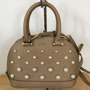 DKNY Round Pearl Small Satchel Gold